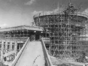 Construction of sightseeing tower (1966)
