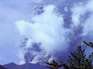 Large eruption of Mt. Asama in 1973